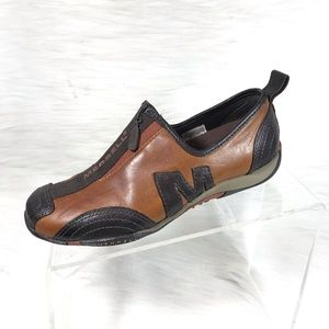 Merrell Barrado Loafers Brown Leather Size 5.5